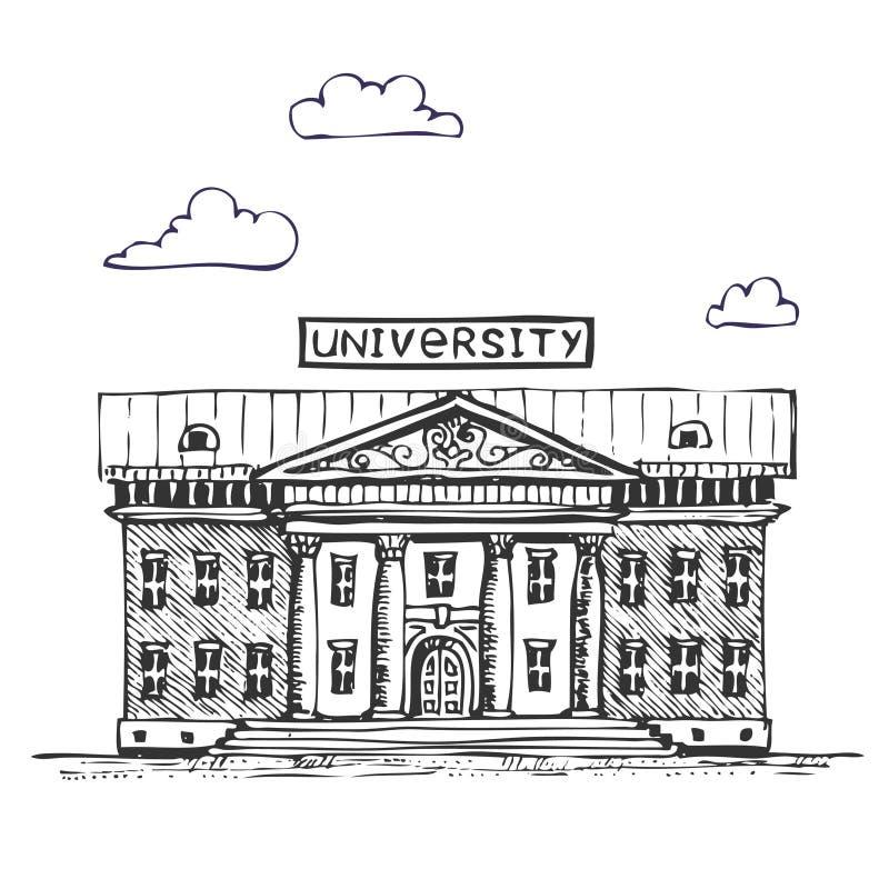 budynku uniwersytet ilustracja wektor