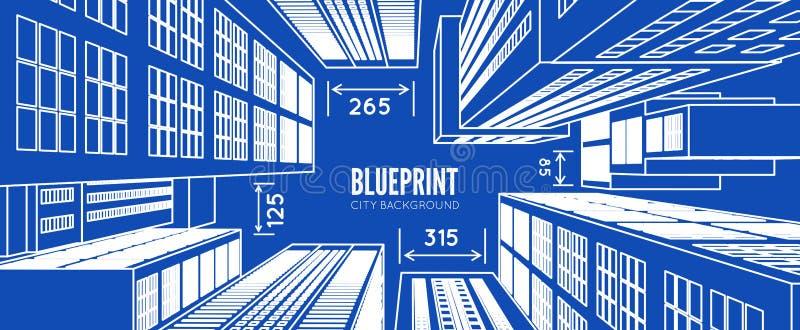 Budynku wireframe 3d odpłacają się miasto ilustracja wektor
