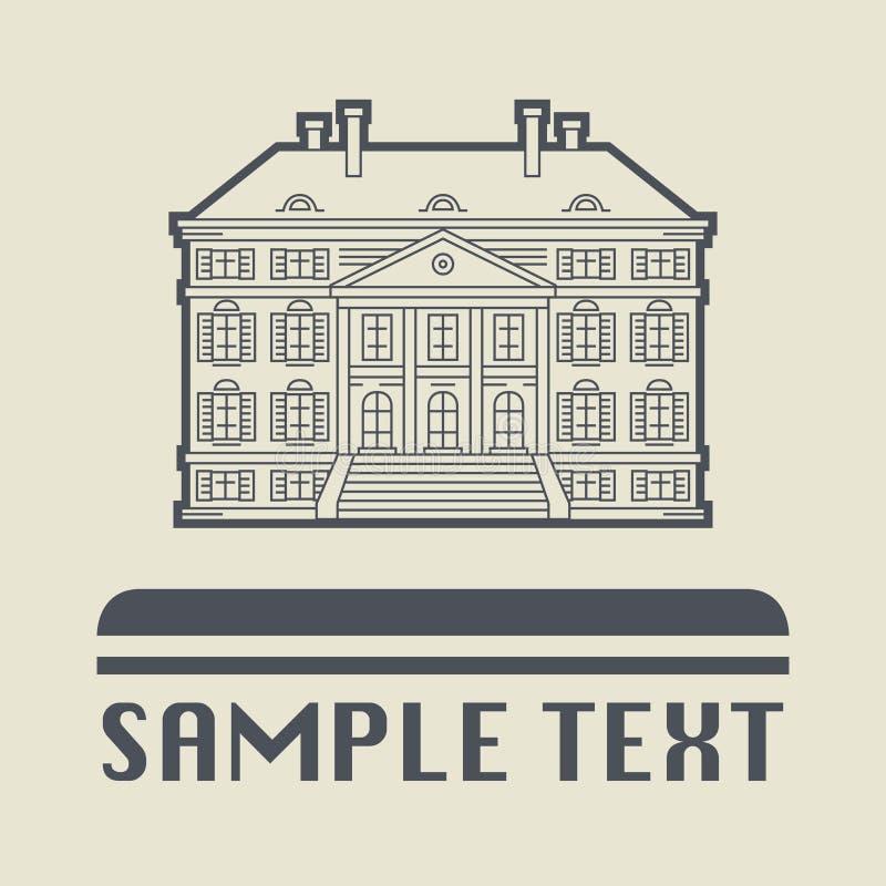 Budynku znak lub ikona ilustracja wektor