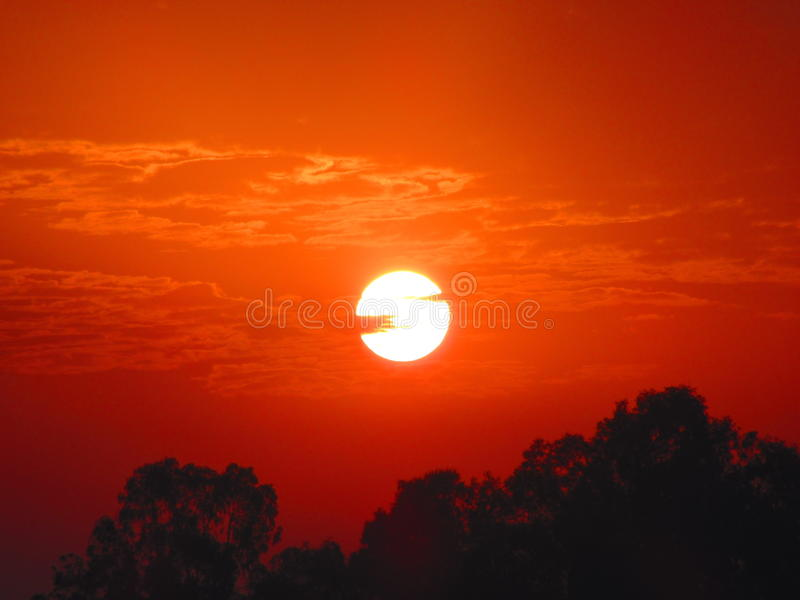 Budzący słońce obrazy royalty free