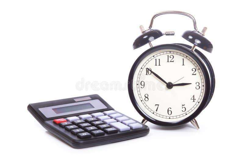 Budzik i kalkulator zdjęcia royalty free