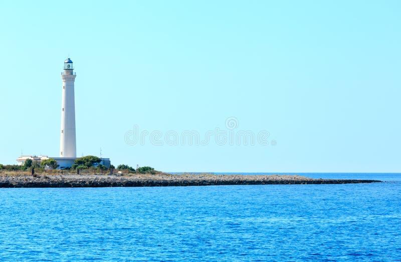 San Vito lo Capo lighthouse, Sicily, Italy.  royalty free stock photos