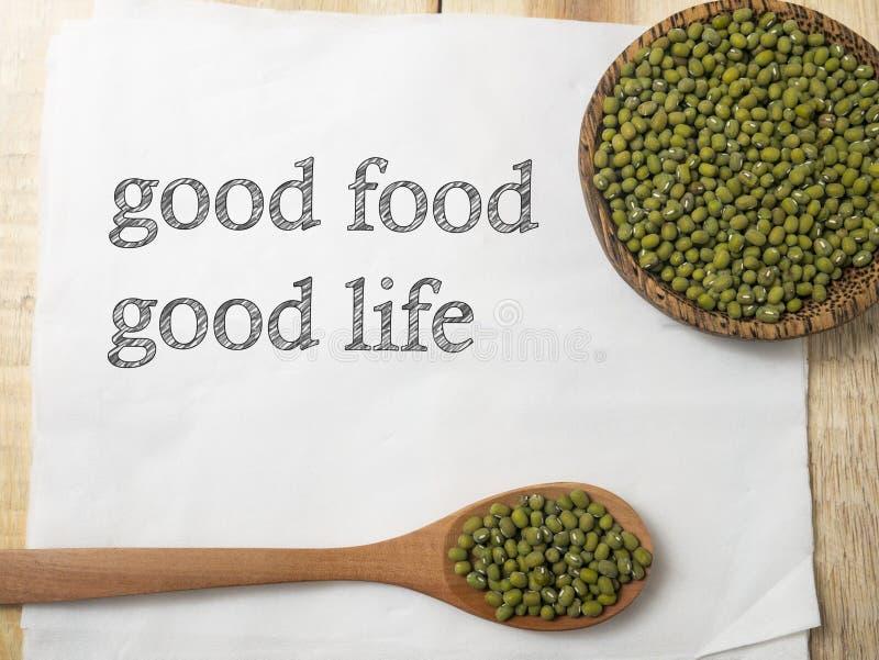 Buen concepto sano de la comida, forma de vida Inspira de motivación de la salud fotografía de archivo