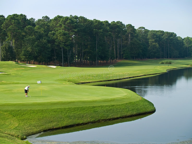 Buen día del golf foto de archivo