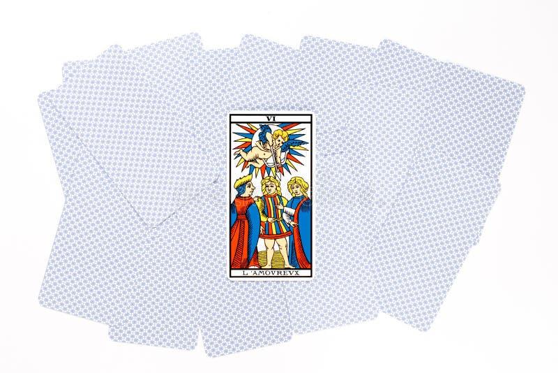 Buen drenaje de la carta de tarot imagenes de archivo