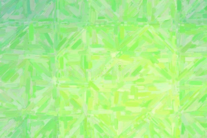 Buen ejemplo abstracto de la pintura al óleo verde y gris Fondo útil para su trabajo ilustración del vector