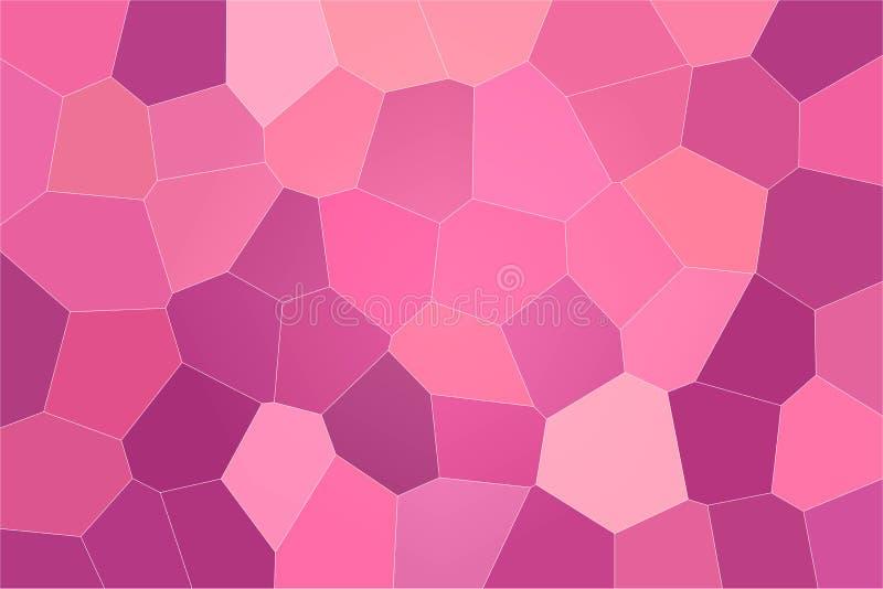 Buen ejemplo abstracto del hexágono grande en colores pastel rojo, púrpura y magenta Fondo útil para su trabajo libre illustration