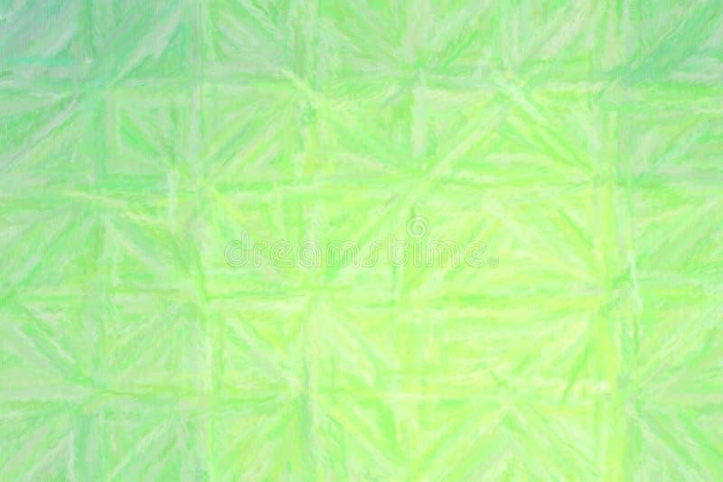 Buen ejemplo abstracto del pastel verde y gris con la pintura larga de los movimientos del cepillo Buen fondo para sus necesidade stock de ilustración