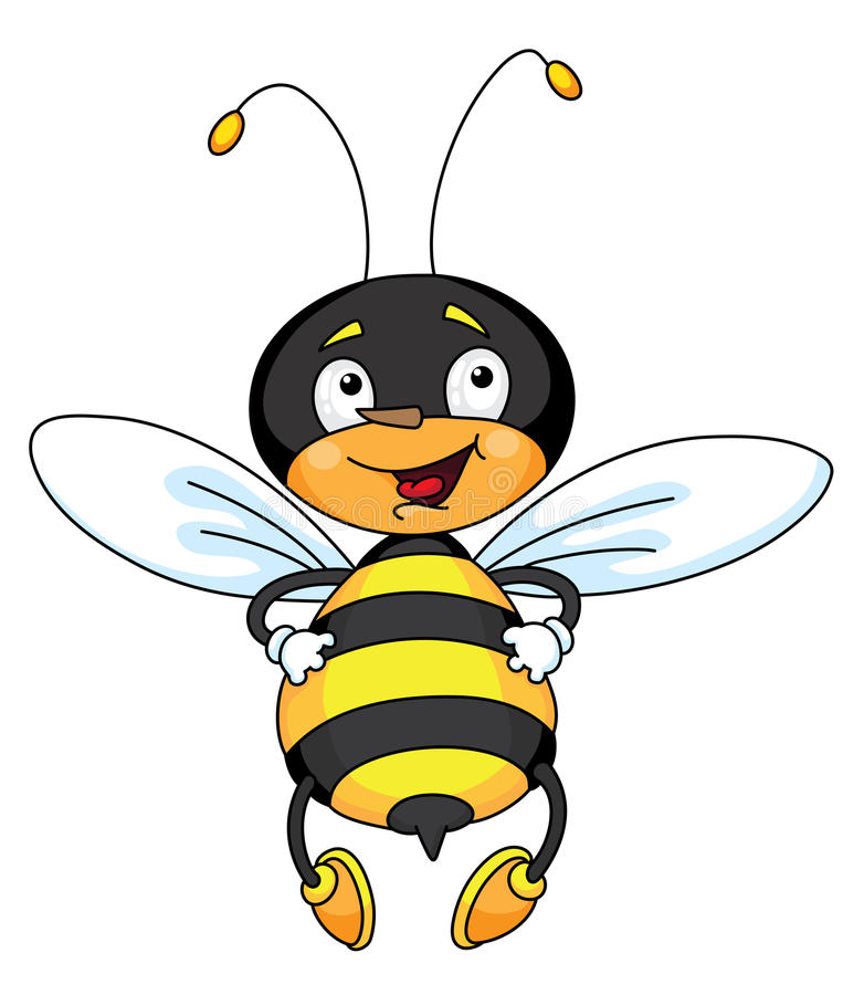 Buena abeja ilustración del vector