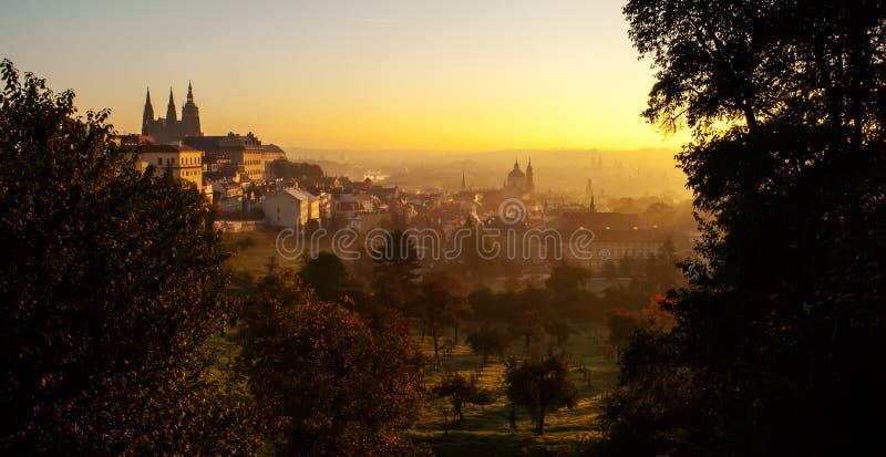 Buena mañana Praga foto de archivo libre de regalías