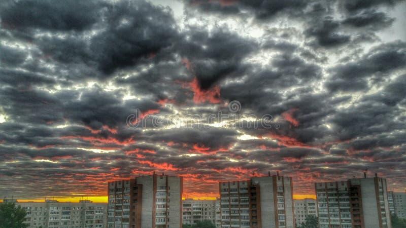Buena mañana Seversk imagenes de archivo