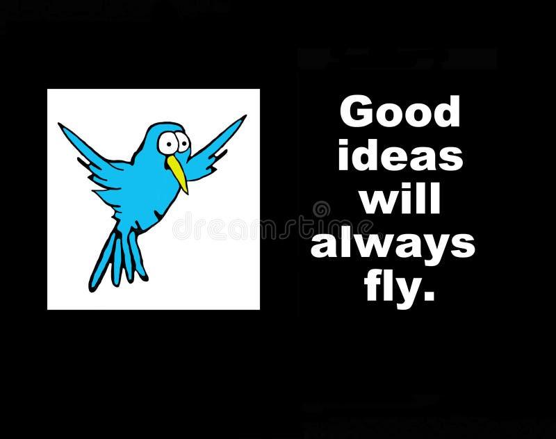Buena mosca de las ideas siempre libre illustration