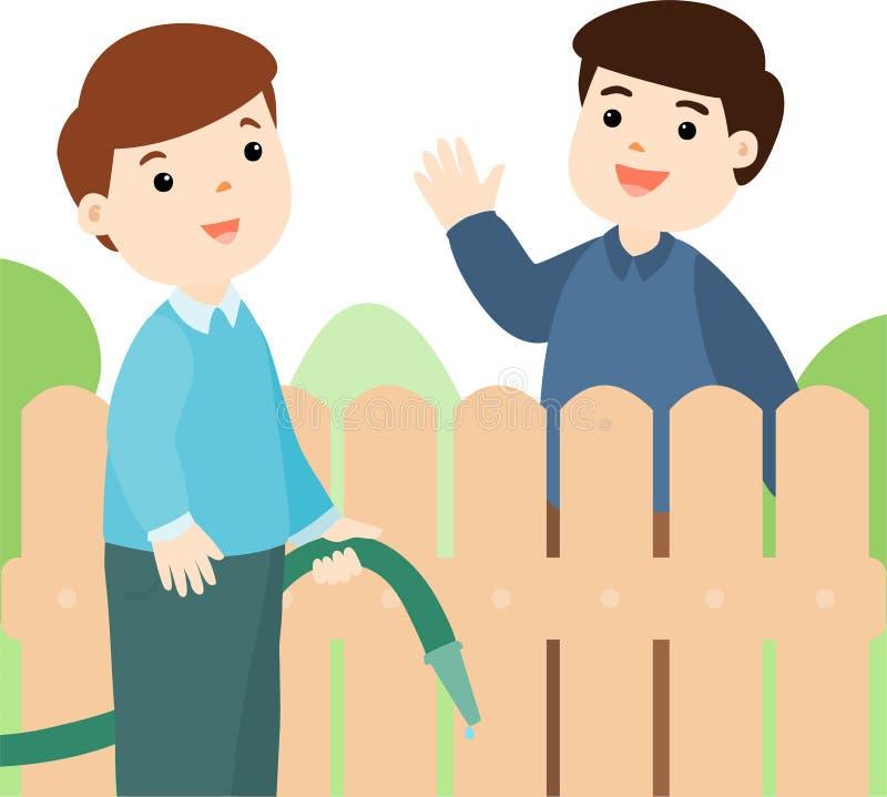 Buena relación del vecino libre illustration