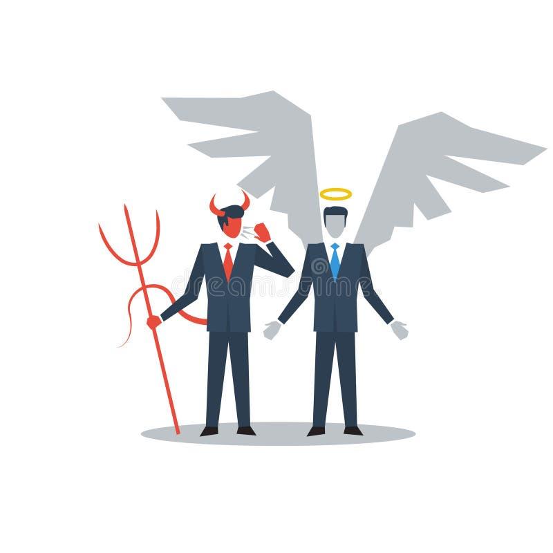 Buena y mala persona libre illustration