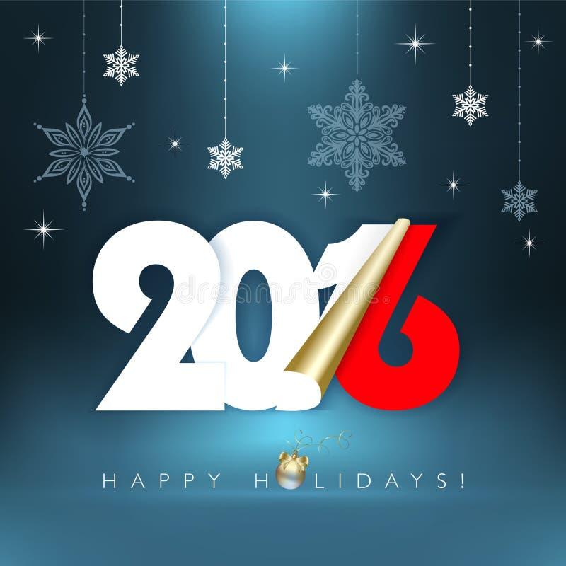 Buenas fiestas 2016 stock de ilustración