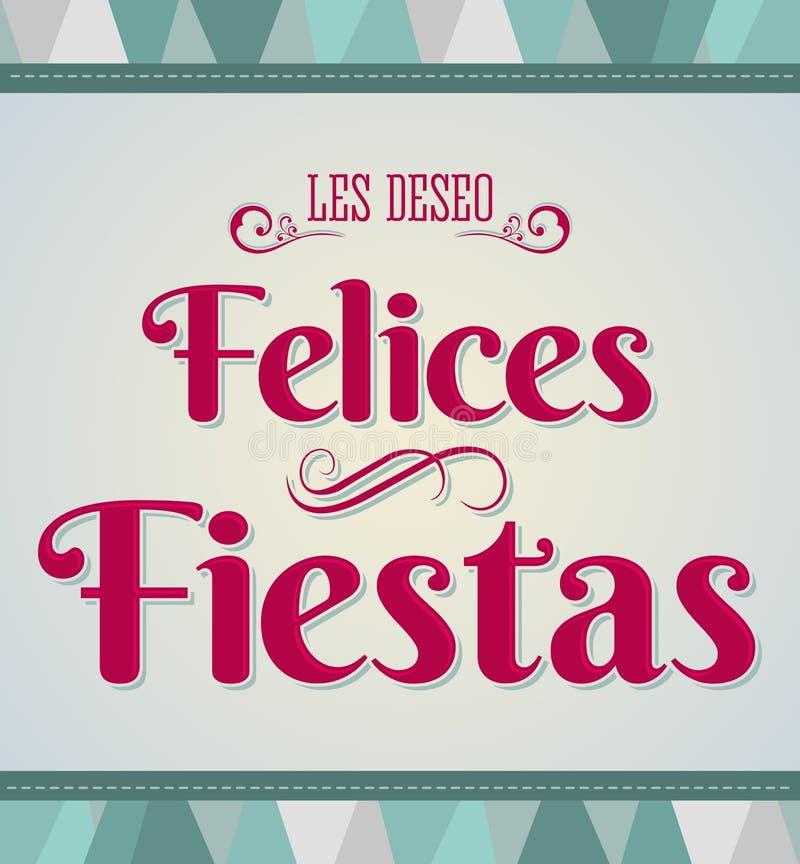 Buenas fiestas - buenas fiestas texto español ilustración del vector
