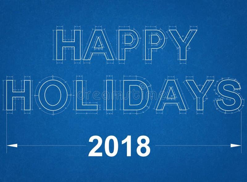 Buenas fiestas modelo 2018 imagen de archivo