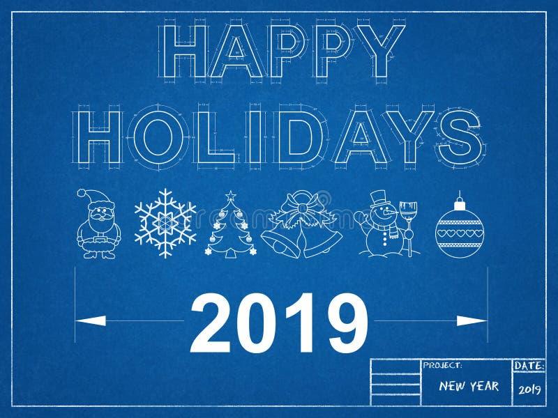 Buenas fiestas modelo 2019 imagen de archivo libre de regalías