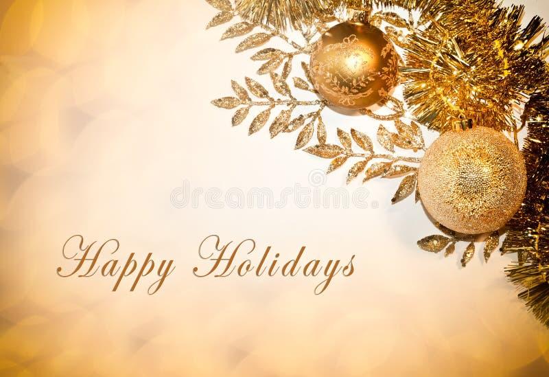 Buenas fiestas tarjeta imagen de archivo libre de regalías