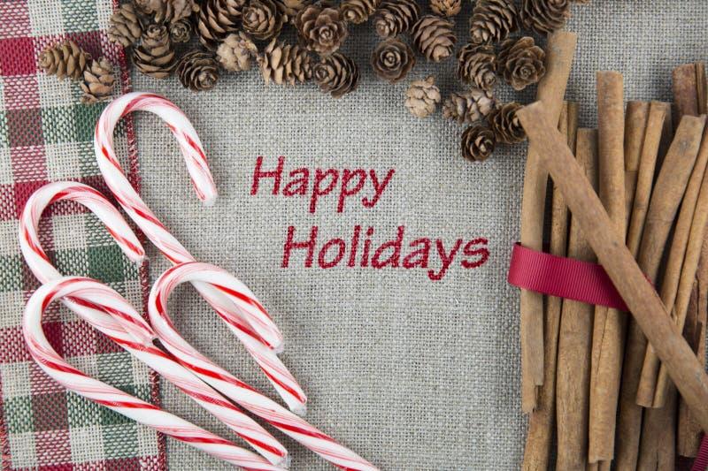 Buenas fiestas tarjeta festiva fotografía de archivo libre de regalías
