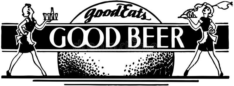 Bueno come la buena cerveza stock de ilustración