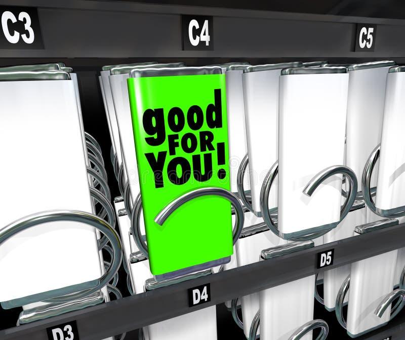 Bueno para usted opción sana de la máquina expendedora bien escogida de la comida del bocado stock de ilustración