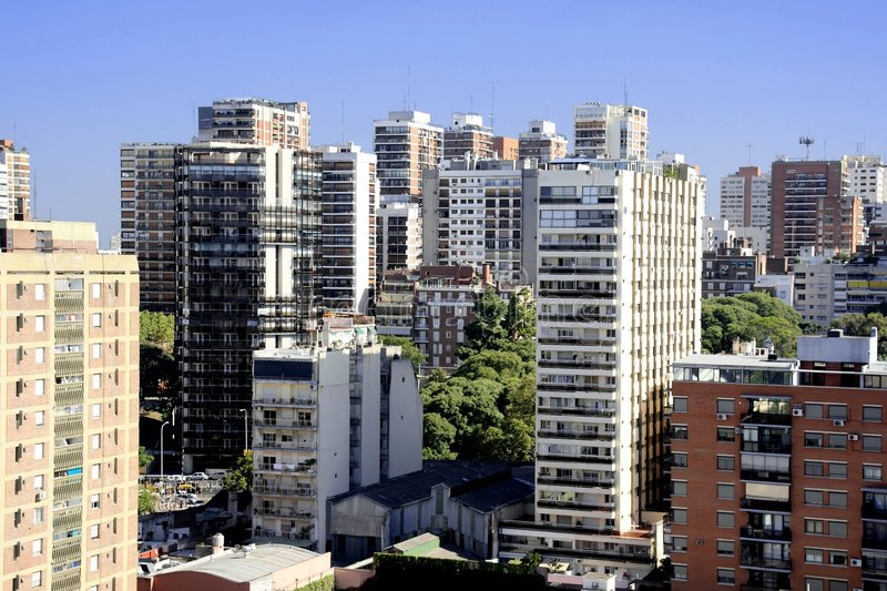 Buenos Aires Aerial View royalty free stock photos