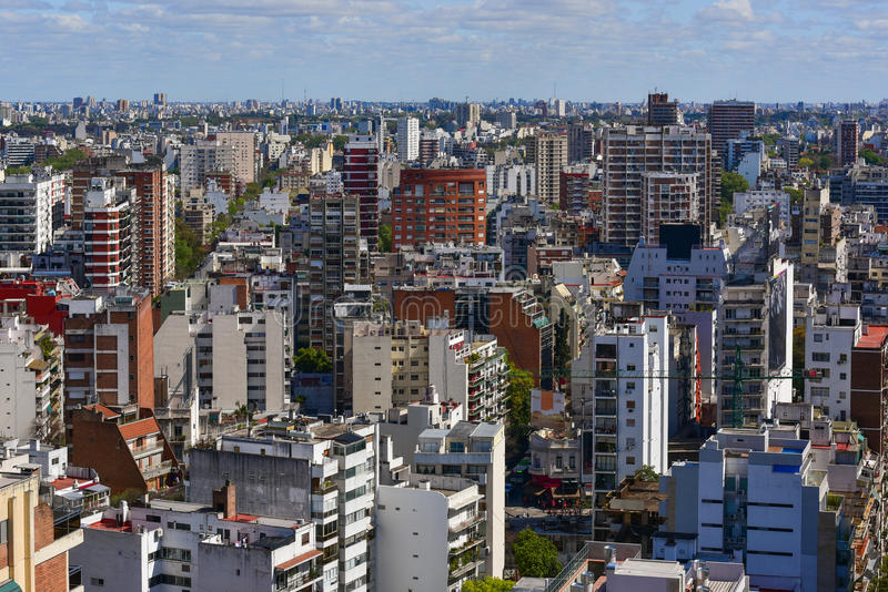 Buenos Aires. Aerial view of Buenos Aires, Argentina royalty free stock photo