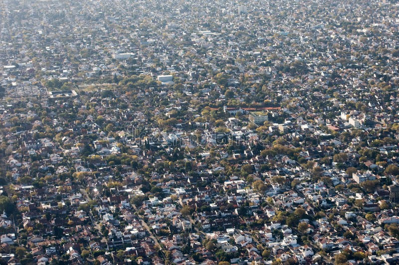 Buenos aires aerial view cityscape stock images