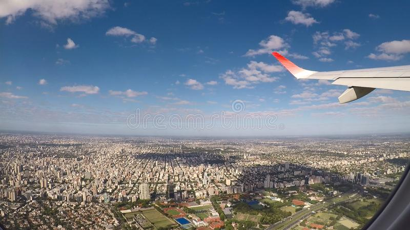 Buenos Aires Aerial View from East looking West royalty free stock image