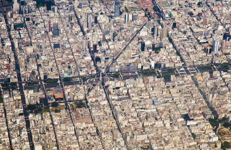 Buenos Aires, Argentina. Buenos Aires downtown bird eye view stock image