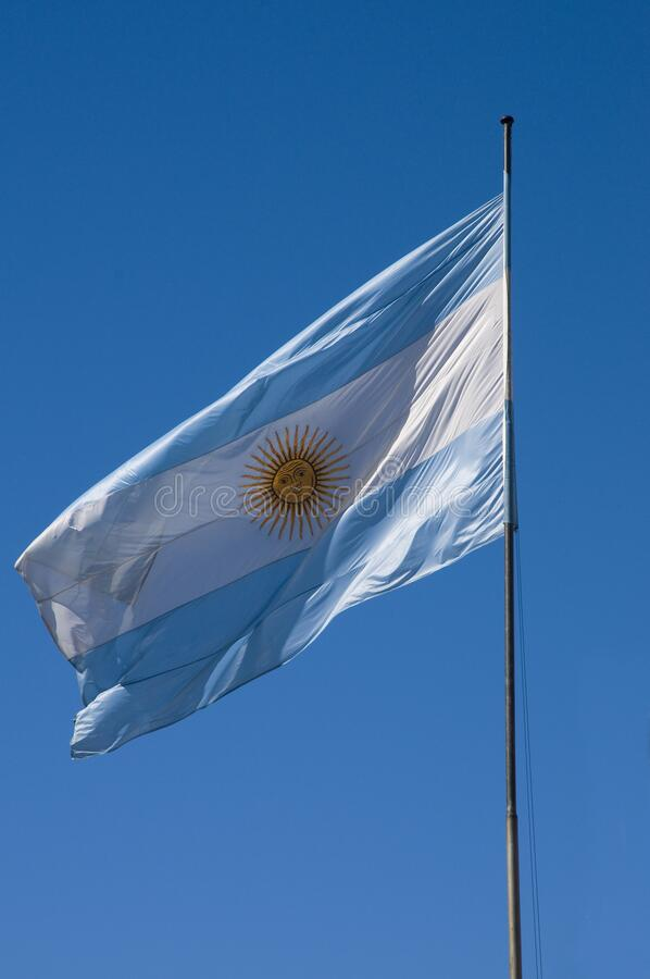 Buenos Aires, Argentina. Argentinian flag in Buenos Aires stock photos