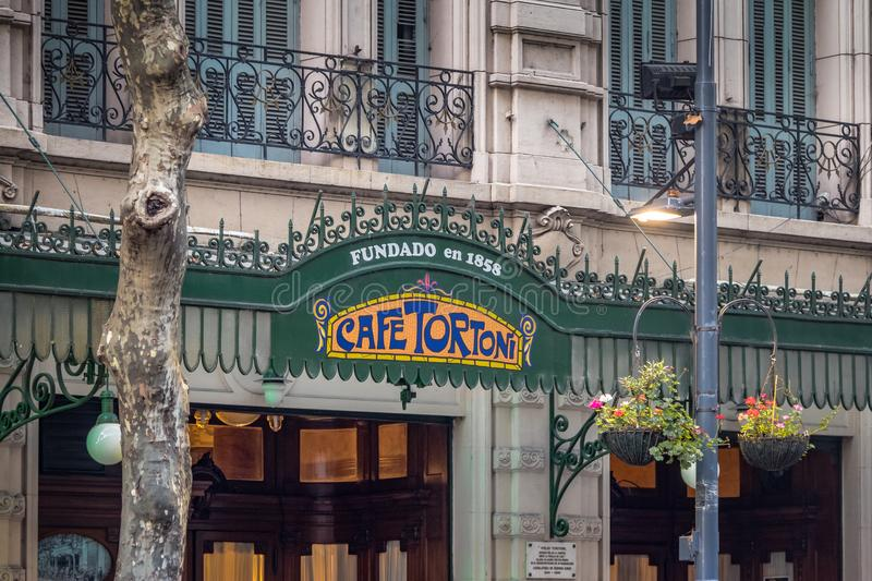 Cafe Tortoni - Buenos Aires, Argentina royalty free stock photo