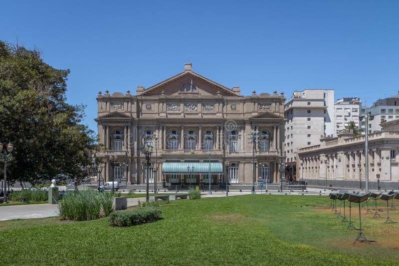 Teatro Colon Columbus Theatre - Buenos Aires, Argentina. Buenos Aires, Argentina - Feb 2, 2018: Teatro Colon Columbus Theatre - Buenos Aires, Argentina stock photography