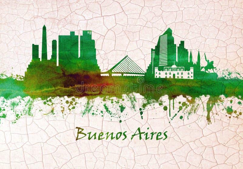 Buenos Aires Argentina horisont vektor illustrationer