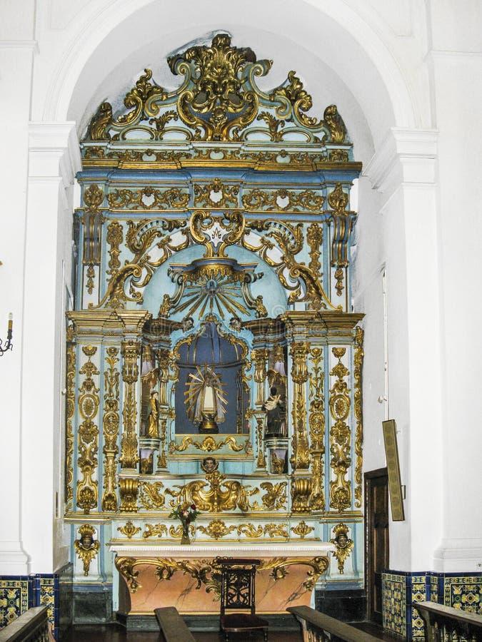 BUENOS AIRES, ARGENTINA - JAN 26, 2015: Church interior at San T royalty free stock photo