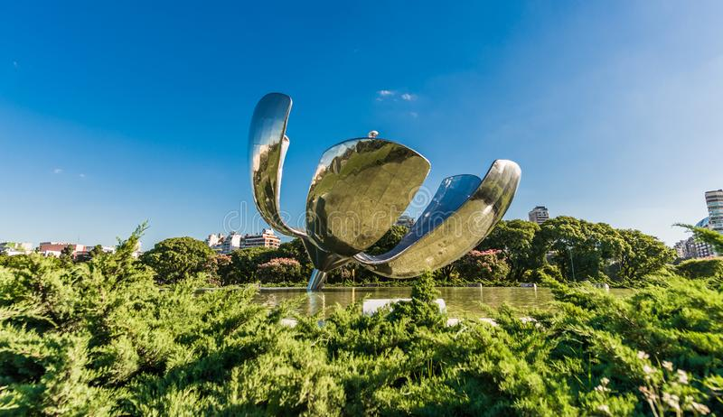 BUENOS AIRES, ARGENTINA - March 17, 2016: Floralis generica monument royalty free stock photography