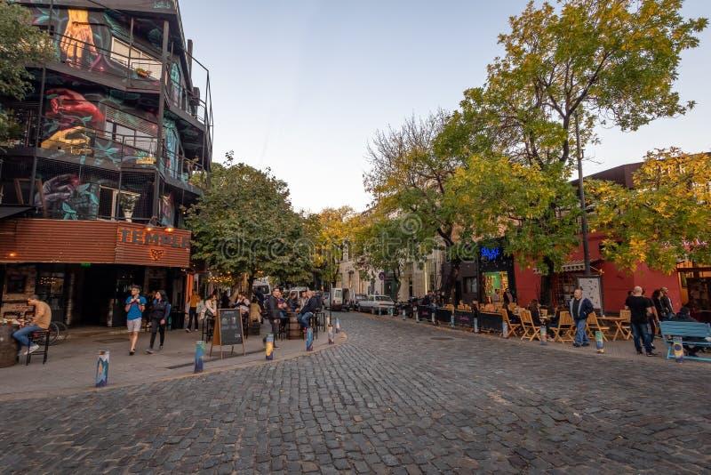 Bar and restaurants at Palermo Soho bohemian neighborhood - Buenos Aires, Argentina royalty free stock photography