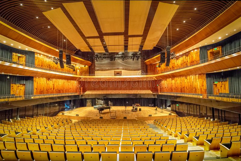 Symphonic Concert Hall at Kirchner Cultural Centre Centro Cultural Kirchner CCK - Buenos Aires, Argentina. Buenos Aires, Argentina - May 19, 2018: Symphonic royalty free stock photo