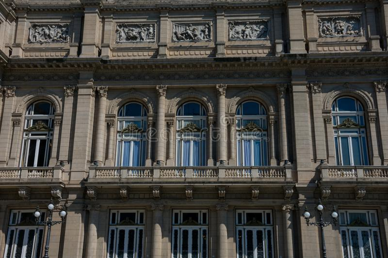The Colombus Theater from Lavalle Square Teatro Colon stock photos