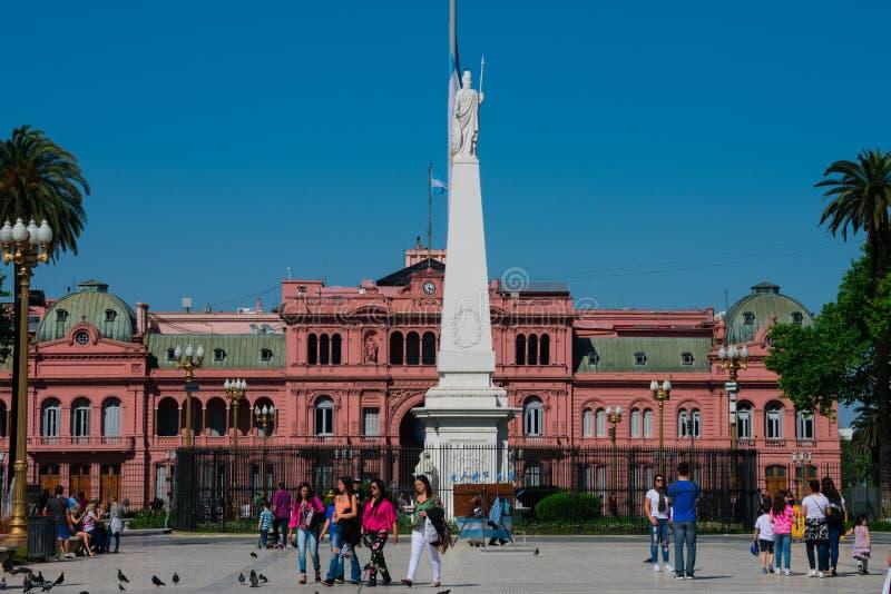 May Square Plaza de Mayo and the Pink House Casa Rosada. Buenos Aires, Argentina. October 14, 2018. May Square Plaza de Mayo and the Pink House Casa Rosada also stock image