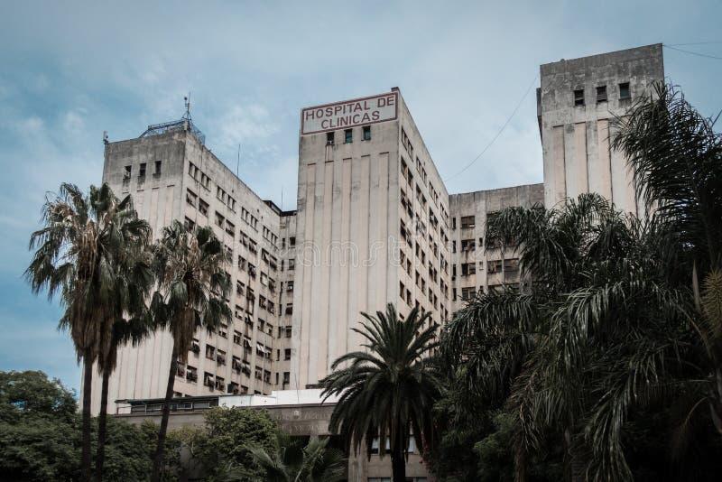 Buenos Aires, Argentina Um hospital da universidade no centro imagem de stock
