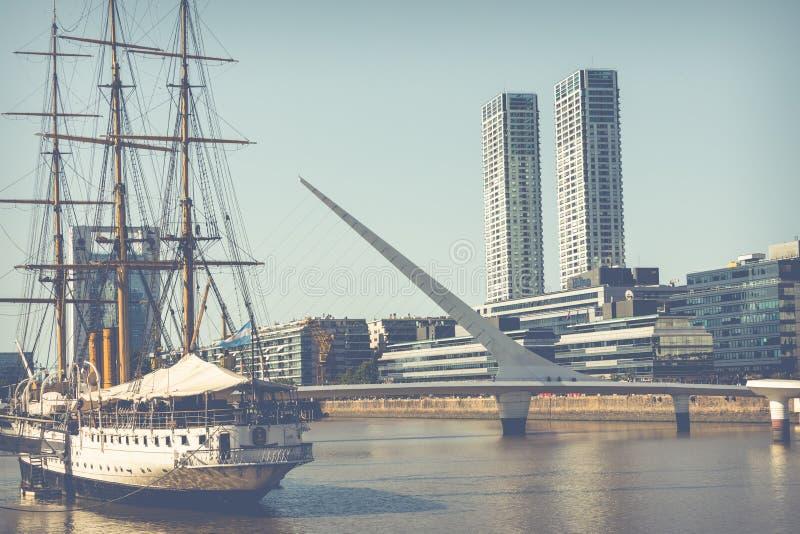 BUENOS AIRES, ARGENTINIË - FEBRUARI 05, 2018: Museumfregat Sarm royalty-vrije stock foto's