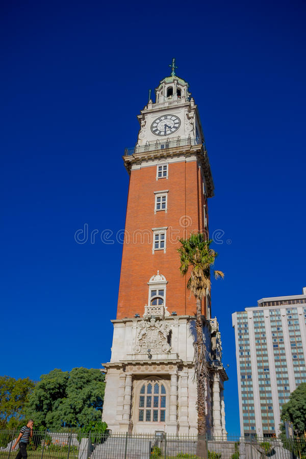 BUENOS AIRES, ARGENTINIË - MEI 02, 2016: torre was monumentaal ook bekend als torre DE los ingleses builded in 1916 stock afbeelding