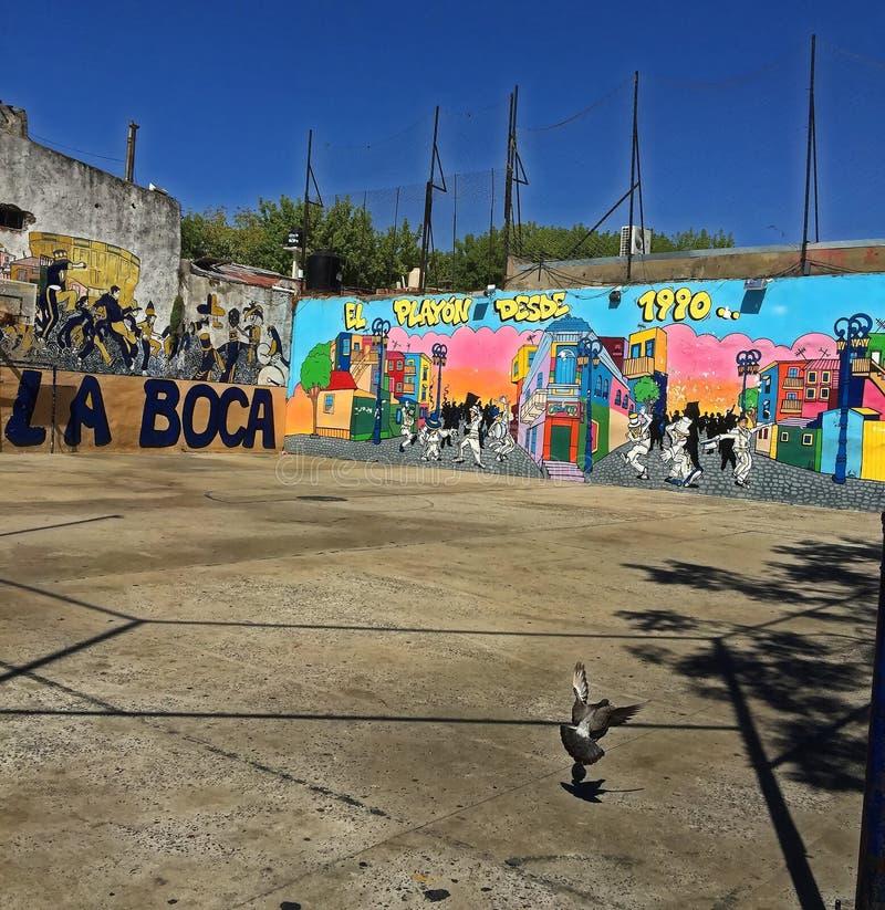 Buenos Aires, Argentyna - losu angeles Boca neighbouhood obrazy stock
