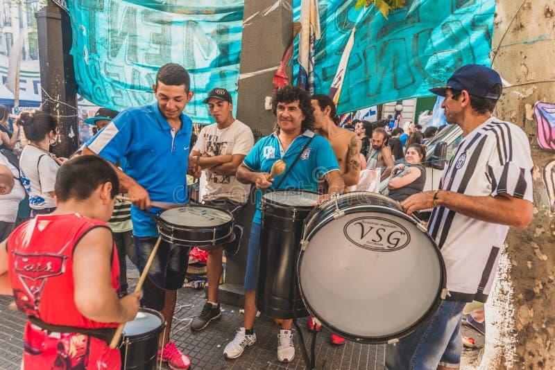 Buenos Aires Argentyna, Marzec, - 24, 2017: Ludzie przy pamięć dniem dla dyktatury obrazy royalty free