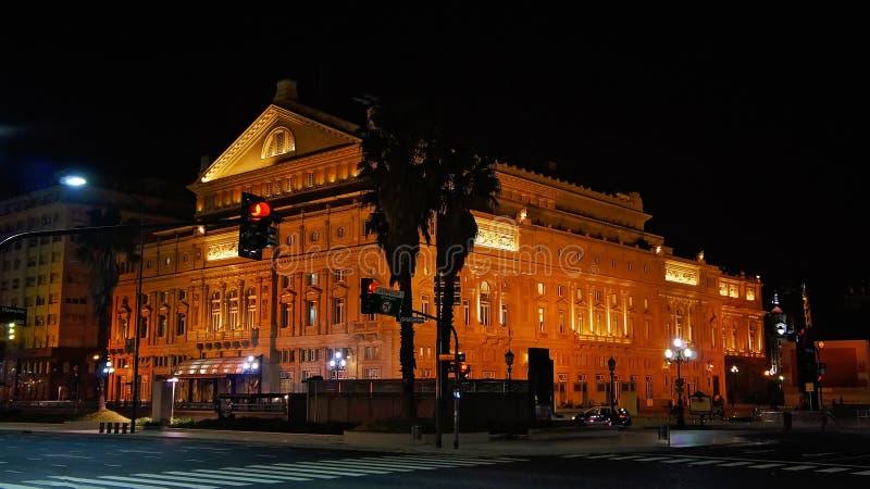 Buenos Aires berömt kolonteaterTeatro kolon arkivfoto
