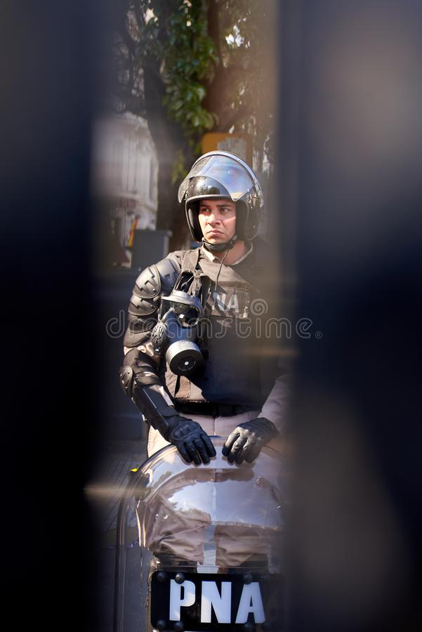 Buenos Aires, C.A.B.A., Argentina - November 30, 2018: g20 summit protest, Buenos Aires. royalty free stock photo