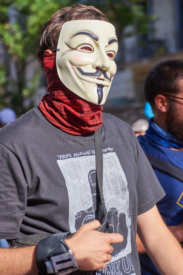 Buenos Aires C A B A , Argentina - November 30, 2018: protest för toppmöte g20, Buenos Aires arkivbilder
