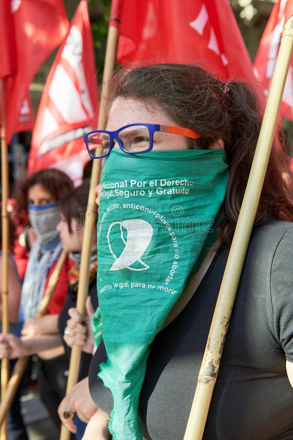 Buenos Aires C A B A , Argentina - November 30, 2018: protest för toppmöte g20, Buenos Aires royaltyfria bilder
